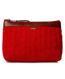 Pluchi Solid Travel Pouch - Red