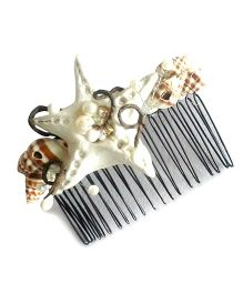 Soulfulsaai Starfish Hair Comb - Off White