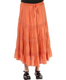 Oxolloxo Maternity A-line Skirt With Lace Details - Orange