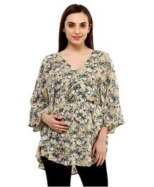 Oxolloxo Maternity Cotton Top Floral Motif - Multi Color