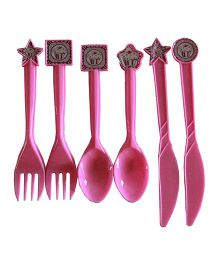 ShopAParty Pink Cupcake Cutlery Set - Pink