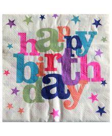 ShopAParty Happy Birthday Napkins - Multicolor