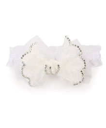 Wenschoice Stylish Bow Hair Band - White