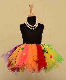 TU Ti TU Pom Pom Tutu Skirt - Multicolor