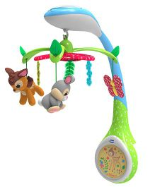 Chicco Disney Baby Bambi Musical Cot Mobile - Multicolor