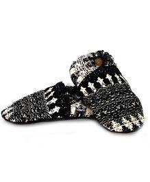 Skips Slip-On Jootie Booties - Black White
