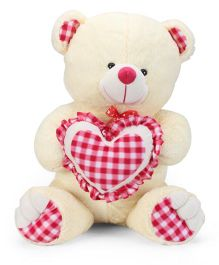 Playtoons Teddy Soft Toy With Heart Cream - 66 cm