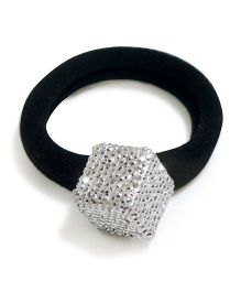 Aayera's Nest Bling Cube Rubber Band - Silver & Black