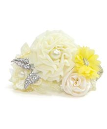 Aayera's Nest Flower Cluster Hairband - Off White