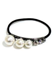 Aayera's Nest Pearls & Diamond Rubber Band - Silver