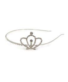 Aayera's Nest Diamond Crown Hairband - Silver
