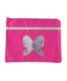 Aayera's Nest A4 Size Bow Print Pouch - Pink