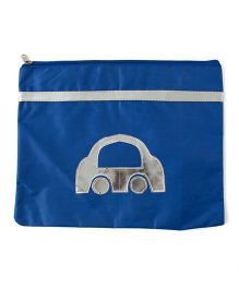Aayera's Nest A4 Size Car Print Pouch - Blue