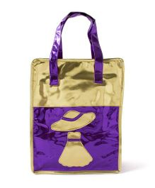 Aayera's Nest Metallic Tote Bag - Purple & Golden
