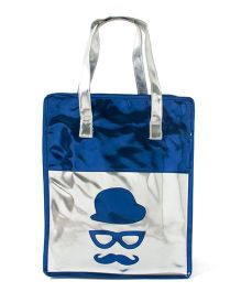 Aayera's Nest Metallic Tote Bag - Blue & Silver