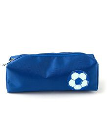 Aayera'S Nest Football Print Nylon Pouch - Blue