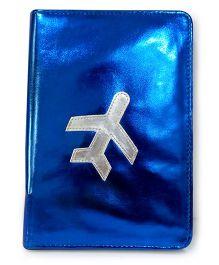 Aayera's Nest Family Passport Wallet - Metallic Blue