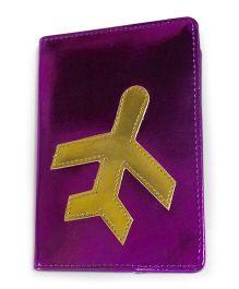 Aayera's Nest Single Passport Cover - Metallic Purple