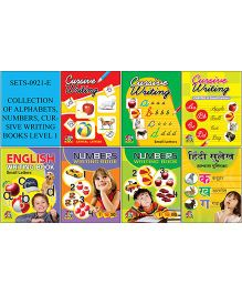 Collection of Alphabets Numbers Cursive Writing Books Level 1 - English