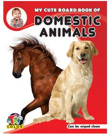 My Cute Board Book of Domestic Animals - English