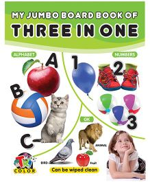 My Jumbo Board Book of Three in One - English
