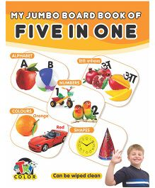 My Jumbo Board Book of Five In One - English And Hindi