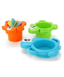 K's Kids Bathing Turto Pack of 3 - Orange Green Blue