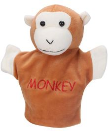 Play Toons Monkey Hand Puppet Brown - 8 Inches