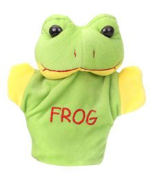 Play Toons Frog Hand Puppet Green - 8 Inches