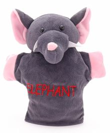 Play Toons Elephant Hand Puppet Grey - 8 Inches