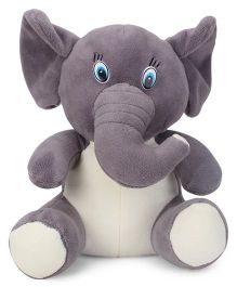 Play Toons Elephant Soft Toy Grey - 21 cm