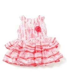 Chicabelle Baby Dress In Printed Fabric - Peach