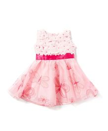 Chicabelle Baby Girls Dress In Printed Fabric - Pink