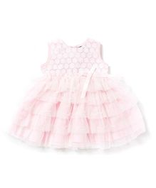 Chicabelle Baby Girls Layered Dress  - Pink & White