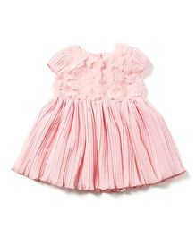 Chicabelle Pleated Sleeveless Dress - Pink