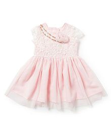 Chicabelle Baby Girls Dress - White & Pink