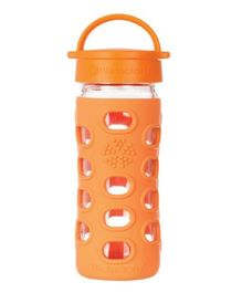 Lifefactory Glass Bottle with Classic Cap and Silicone Sleeve Orange - 650 ml
