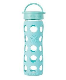 Lifefactory Glass Bottle with Classic Cap and Silicone Sleeve Green - 475 ml