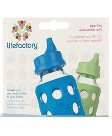 Lifefactory Sippy Caps - Blue and Green