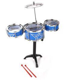 Smart Picks Jazz Drum Set Blue - 6 Pieces
