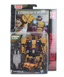 Transformers Generations Combiner Wars Action Swindle Figure Yellow Purple - 12.5 cm