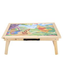Smart Picks Wooden Study Table Pooh Print - Multicolor