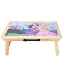 Smart Picks Wooden Study Table Barbie Print - Multicolor
