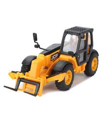 JCB Die Cast Construction Series Crane Replica Toy - Yellow And Black