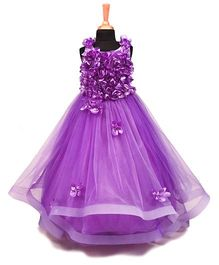 The Wild Cat Floral Gown - Lavender