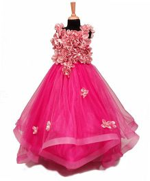 The Wild Cat Floral Gown - Pink