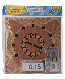 Clever Cubes Talk Time Puzzle - Brown