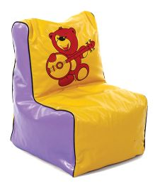 Lovely Bean Chair - Yellow And Purple