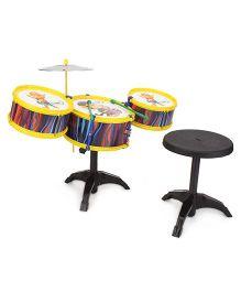 Lovely Drum Set Monkey Print - Yellow
