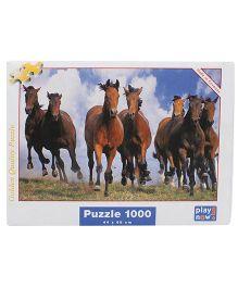 Play Now Horses Puzzle Set Multicolor - 1000 Pieces